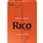 Rico Bass Clarinet Reeds 3.0 - Box of 10