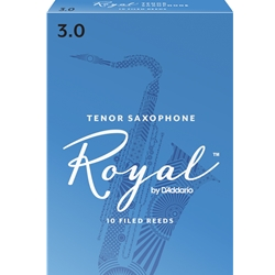 Rico Royal Tenor Sax Reeds 3.0 - Box of 10