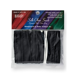Hodge Oboe Silk Swab - Black